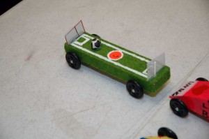 A soccer field is also a racing car!