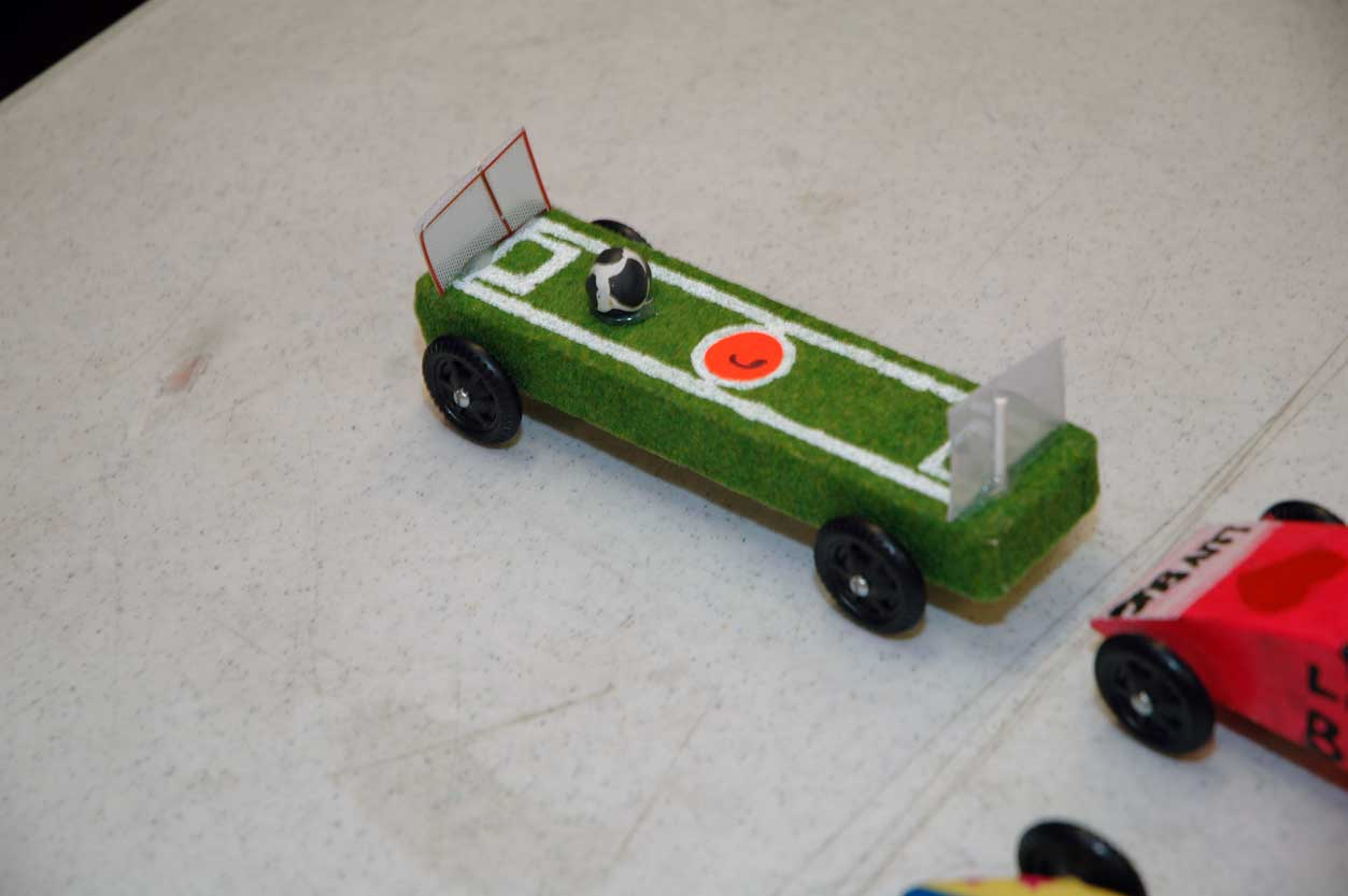 a soccer field is also a racing car