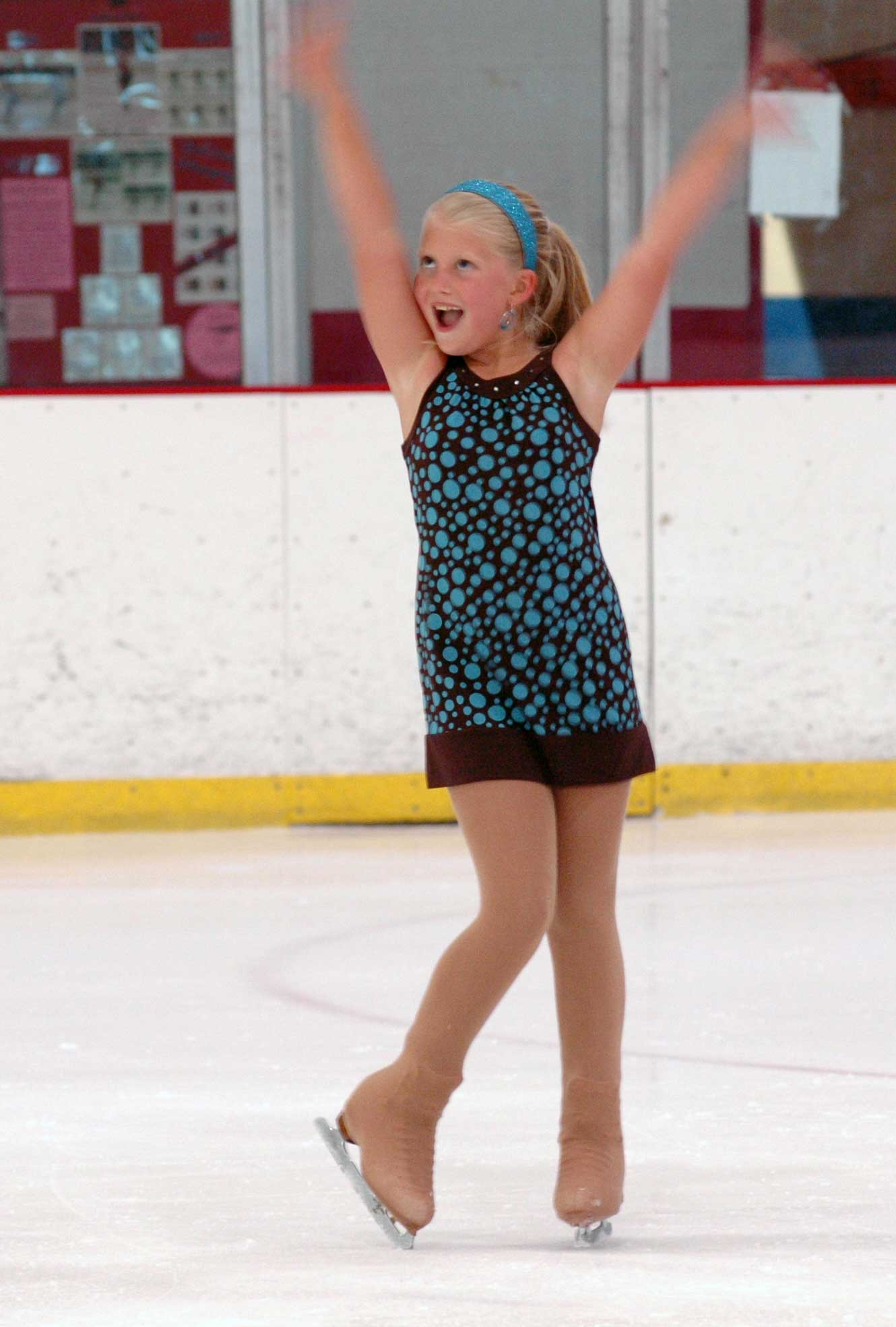 My daughter at her last skate competition.