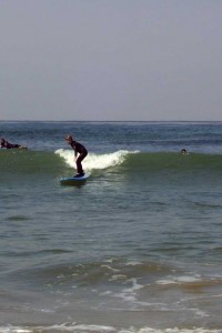 My son's first surf lesson.