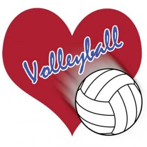 volleyball heart design