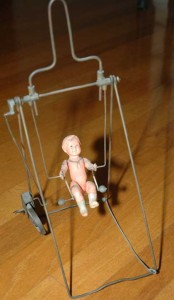 The acrobat wind-up toy was too precious to let have ken have it . . . he would take it apeart to try to figure it out.