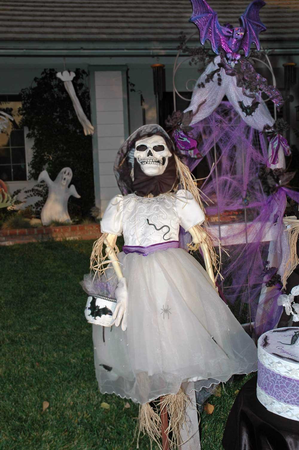 So pretty in her custom gown. Frankenstein's flower girl.