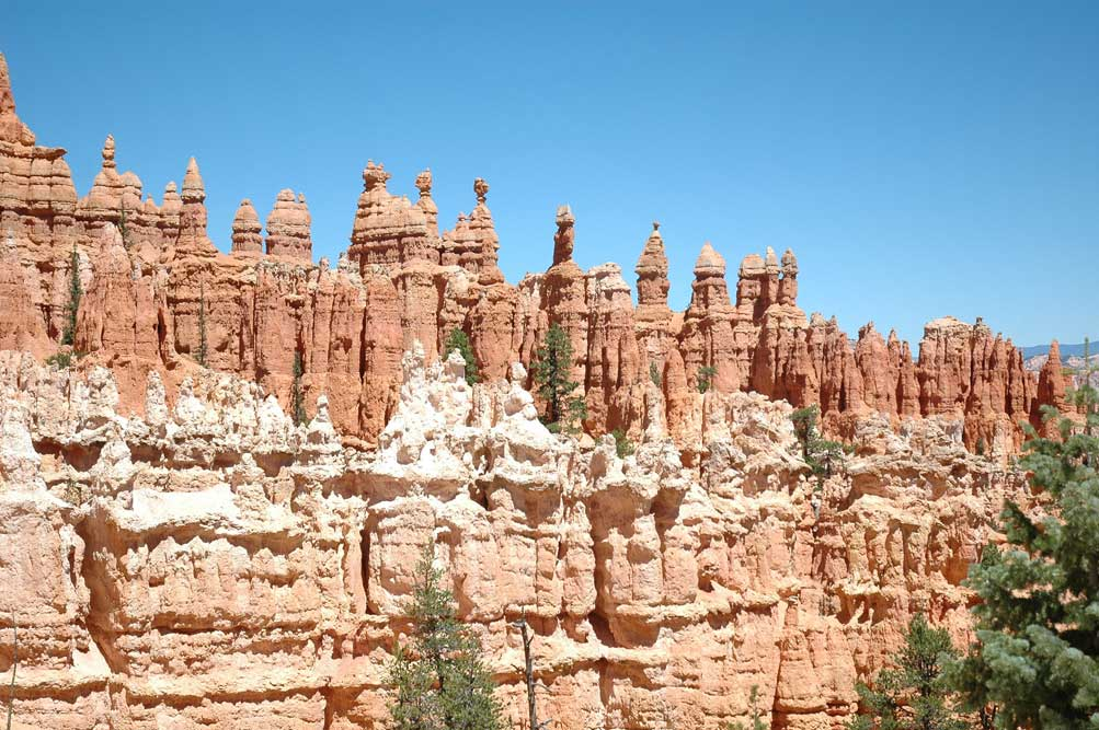 Hoodoos made us think of castles you make at the beach by dripping sand.