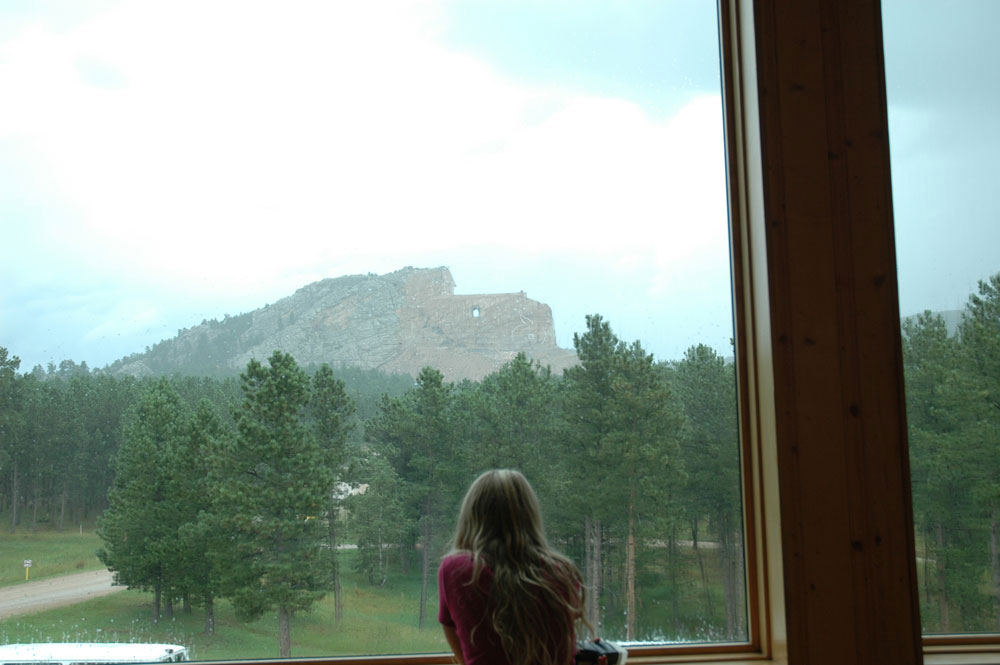 crazy horse monument view from window