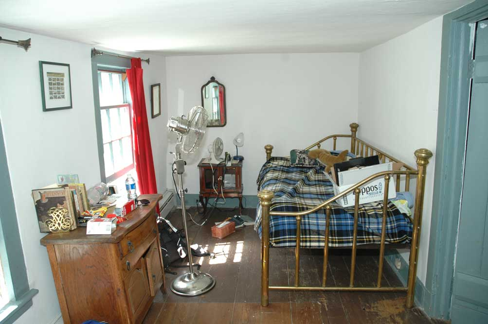 Where Thomas Jefferson slept and where Colman now has his bedroom.