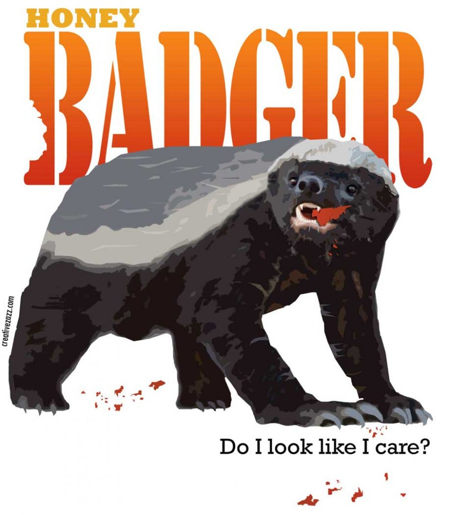 honey badger shirt with blood crumbs