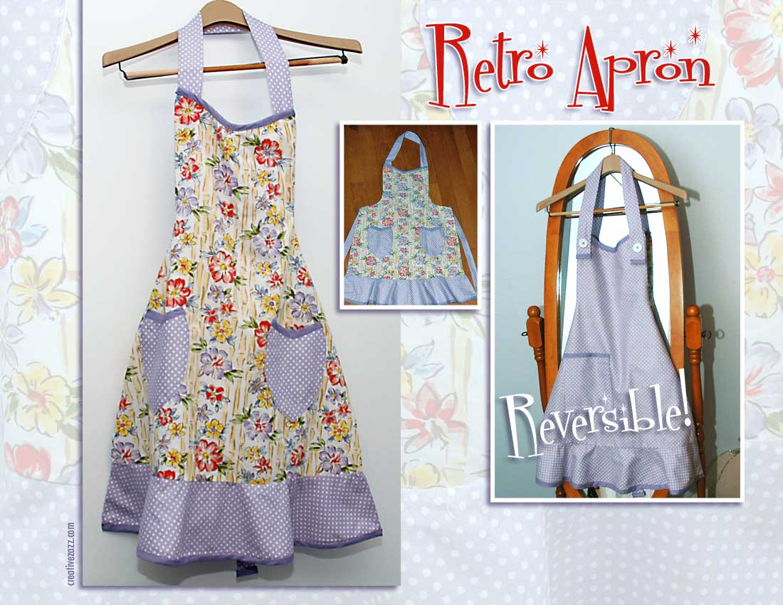 retro apron I made